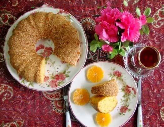آموزش گام به گام پخت کیک کنجدی رژیمی