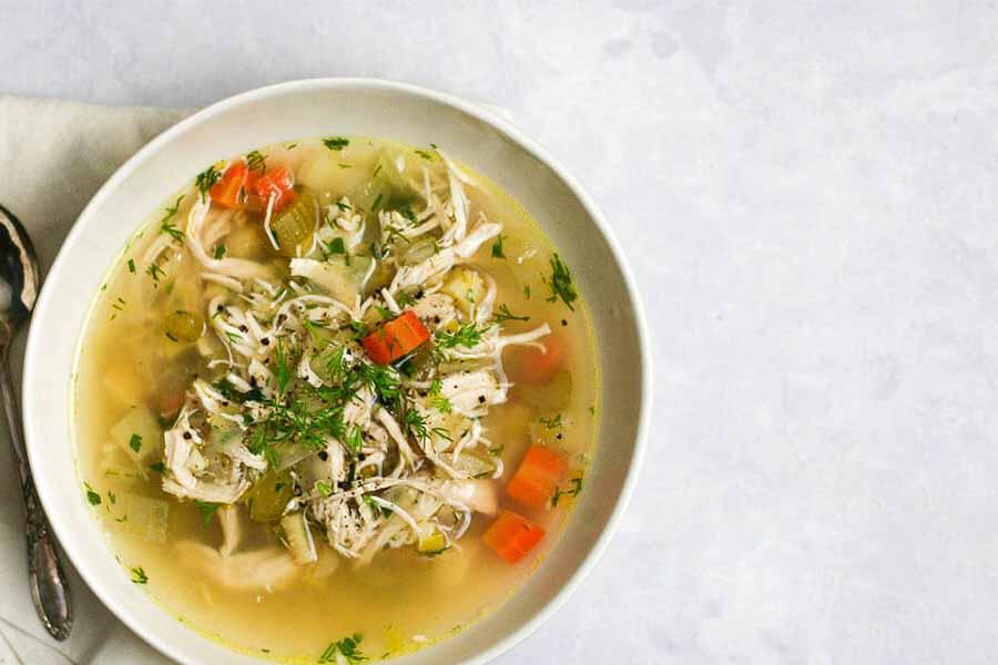 سوپ مرغ  و  روغن کنجد برای درمان سرماخوردگی